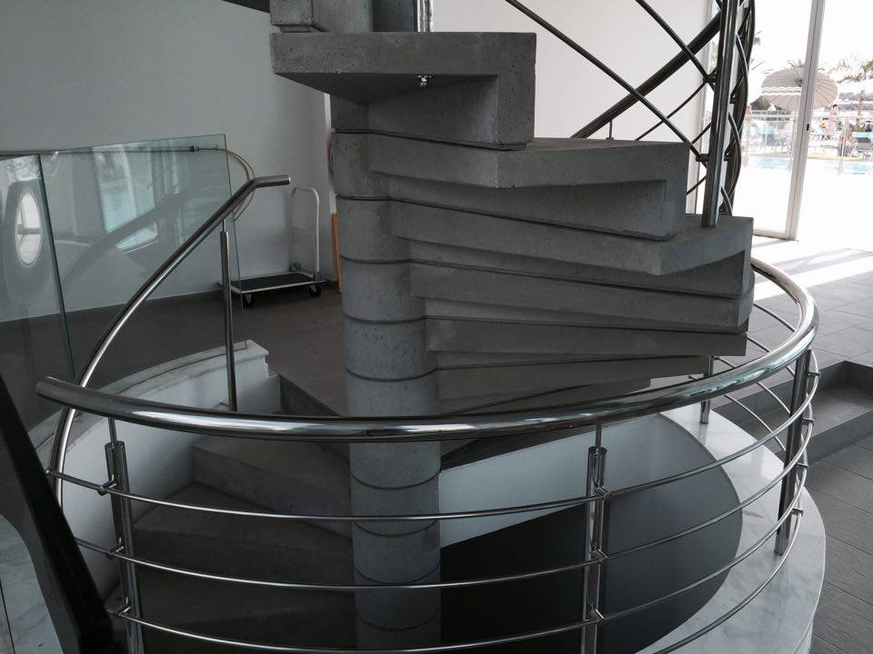 Ступени из декоративного бетона