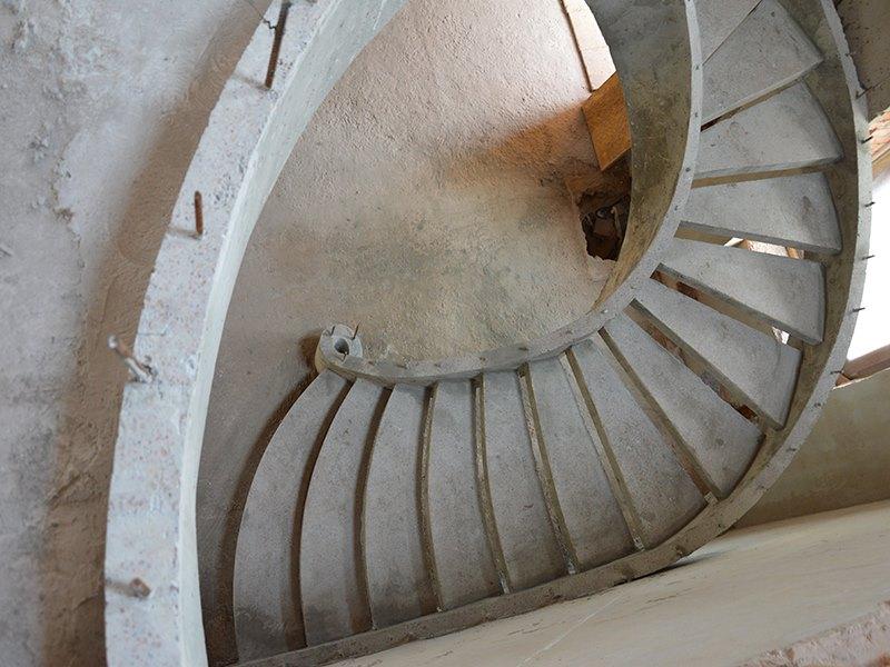 Двухтетивная лестница вид сверху