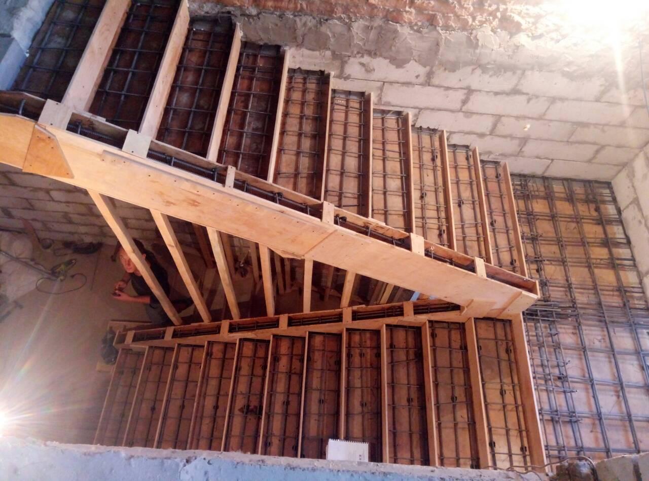 Армирование бетонных лестниц