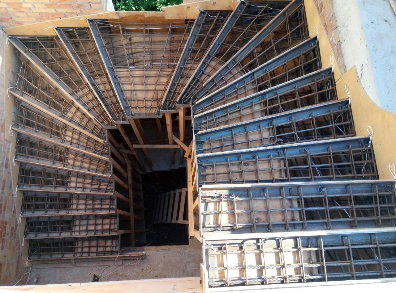 Армирование лестниц из бетона