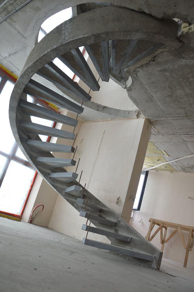 Однотетивная винтовая лестница