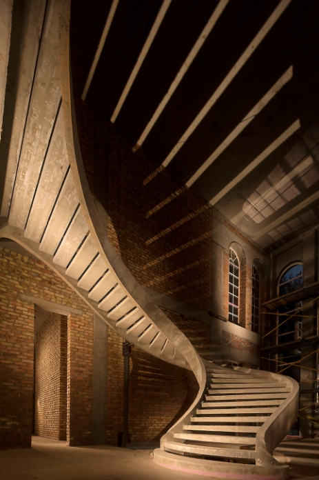 полувинтовая двухтетивная лестница иллюстрация