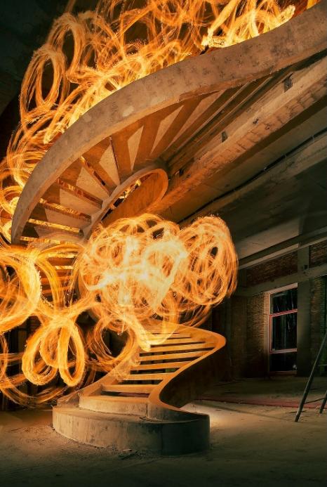 винтовая лестница двухтетивного типа