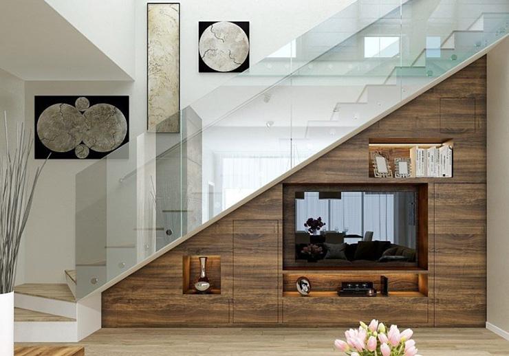 вітальня зі сходами