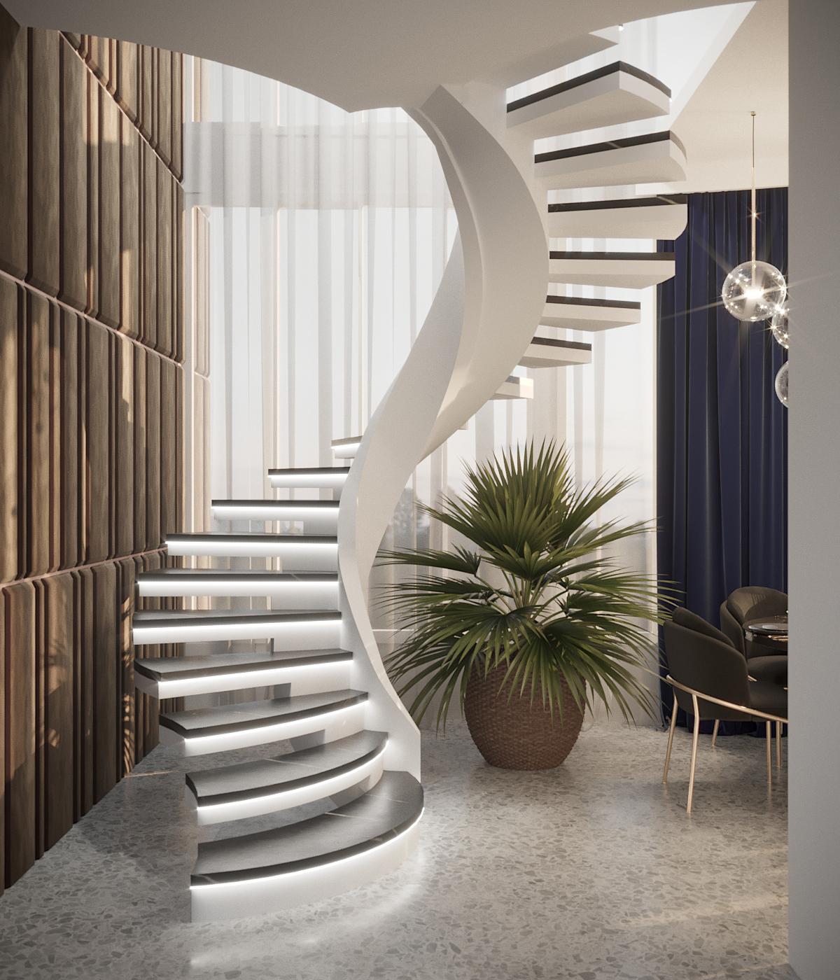 полу винтовая лестница
